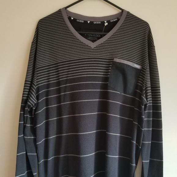 480d21d50d32 Guess Shirts | Mens Black V Neck Pullover Size Xxlttg | Poshmark